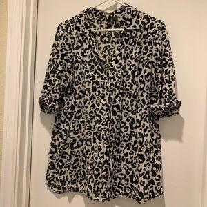H&M Leopard Print Button Up